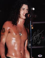 Slash Guns N' Roses Signed 11x14 Photo Psa Coa Q49058