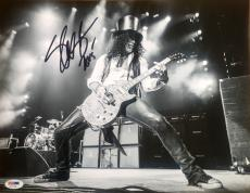 Slash Guns N' Roses Signed 11x14 Photo Psa/Dna AA11156