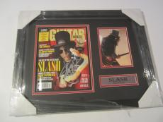 Slash Guns N Roses Signed Autographed Framed Matted Magazine Jsa Loa Coa