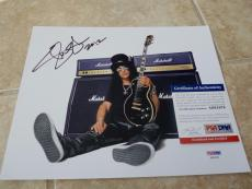 Slash Guns N Roses Velvet Revolver Signed Autograph 8x10 Photo PSA Certified 1