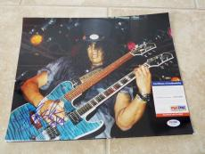 Slash Guns & Roses 1 of A Kind Signed Autographed 11x14 Photo PSA Certified #1