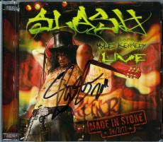 Slash Guns Roses Autographed Signed Live CD Certified Authentic JSA AFTAL COA