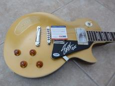 Slash Guns Roses GNR Signed Autographed Gold Top Electric Guitar PSA Certified
