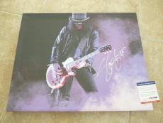 Slash Guns & Roses HUGE Signed Autoographed 16x20 CANVAS Photo PSA Certified