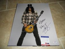 Slash Guns & Roses HUGE Signed Autoographed 16x20 Photo PSA Certified