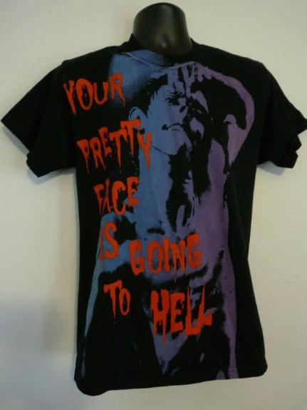 Slash Guns & Roses PRETTY FACE Black T Shirt OWNED BY SLASH SAUL HUDSON
