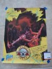Slash Guns Roses RARE 1988 Gibson Signed Autographed 18x24 Poster PSA Certified