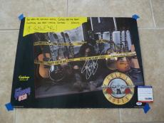 Slash Guns Roses RARE 1989 Gibson Signed Autographed 18x24 Poster PSA Certified