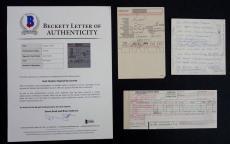 SLASH Guns & Roses Rare Lot Of Handwritten Note Airline Cards Signed Saul Hudson