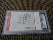 SLASH Guns Roses Signed Autograph 2016 Las Vegas Ticket PSA Certified & Slabbed