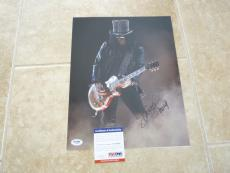 Slash Guns & Roses Signed Autographed 11x14 Photo PSA Certified #6