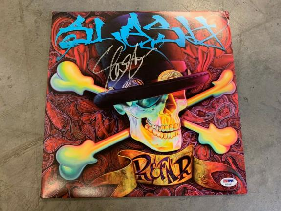 SLASH Guns & Roses Solo Autographed Signed LP Record Cover PSA Certified