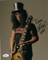 SLASH HAND SIGNED 8x10 COLOR PHOTO      GUNS+ROSES    AWESOME    TO DAVE     JSA