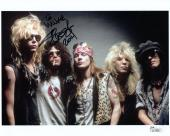 SLASH HAND SIGNED 8x10 COLOR PHOTO      GUNS+ROSES GUITARIST    TO MIKE     JSA