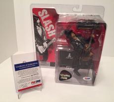 Slash 'Saul Hudson' Signed McFarlane Action Figure Guns N' Roses PSA