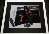 Slash signed auto autographed 11x14 inch photo matted framed w/ PSA/DNA sticker