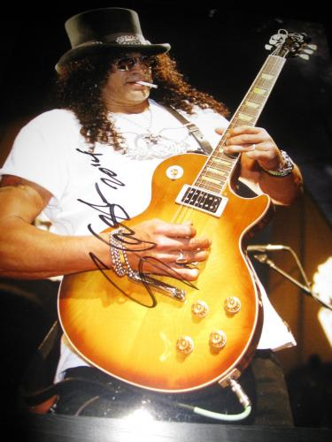 SLASH SIGNED AUTOGRAPH 11x14 PHOTO GUNS AND ROSES CONCERT COA AUTO RARE NY D