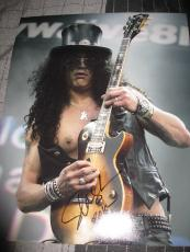 SLASH SIGNED AUTOGRAPH 11x14 PHOTO GUNS AND ROSES GUITAR ROCK AND ROLL RARE L