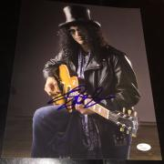 Slash Signed Autograph Guns N' Roses Guitar Legend Poster 11x14 Photo Jsa L74004