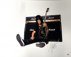 Slash Signed Autographed 16x20 Photo Guns N Roses Velvet Revolver PSA/DNA Guitar