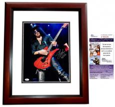 Slash Signed - Autographed Guns N Roses Concert 11x14 Photo MAHOGANY CUSTOM FRAME - JSA Certificate of Authenticity