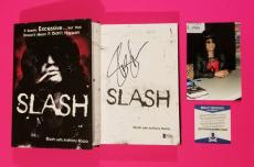 Slash Signed Book With 3 Photos From The Book Signing & Bas Coa - Guns N Roses