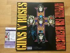 Slash Signed Guns N Roses Appetite For Destruction Record Album JSA Coa