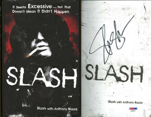 Slash SIGNED Slash HC Book 1st Ed 1st Pr Guns N' Roses PSA/DNA AUTOGRAPHED MINT