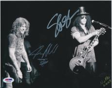 SLASH & STEVEN ADLER SIGNED 8x10 PHOTO PSA/DNA K03068 GUNS N ROSES GNR RARE