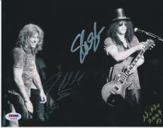 SLASH & STEVEN ADLER SIGNED 8x10 PHOTO PSA/DNA K03069 GUNS N ROSES GNR RARE