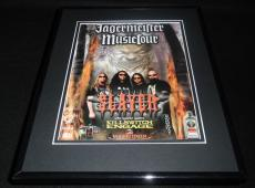 Slayer 2004 Jagermeister Music Tour Framed 11x14 ORIGINAL Vintage Advertisement