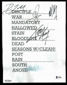 Slayer (4)  King, Lombardo, Araya & Hanneman Signed Set List BAS #A84981