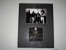 Slayer Group Signed Diabolus In Musica CD Book Jeff Hanneman Framed King Araya
