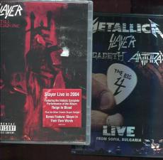 Slayer Lot Of 7 Cd's And Two Dvd's Including The Big 4     Awesome Lot   9 Items