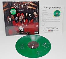 Slipknot Signed Slime Green Limited Edition Album Psa/dna Autos Taylor +2 #4791