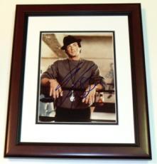 Sylvester Stallone Autographed 8x10 ROCKY Photo MAHOGANY CUSTOM FRAME