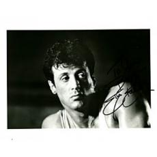 Slyvester Stallone Autographed / Signed Black & White 8x10 Photo