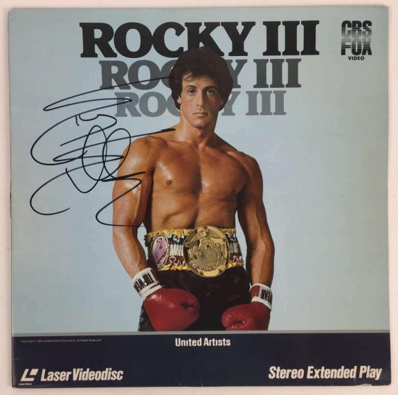 Slyvester Stallone Signed Autographed Rocky III Laser Disc PSA/DNA Authentic