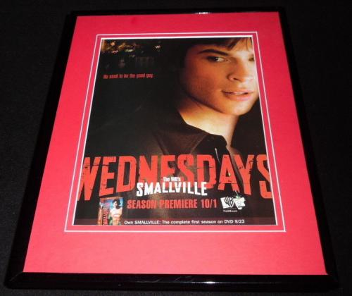 Smallville 2003 The WB Framed 11x14 ORIGINAL Advertisement