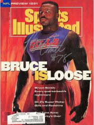 SMITH, BRUCE AUTO (9/2/1991) SPORTS ILLUSTRATED - Mounted Memories