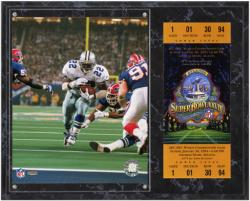Dallas Cowboys Super Bowl XXVIII  Emmitt Smith Plaque with Replica Ticket - Mounted Memories