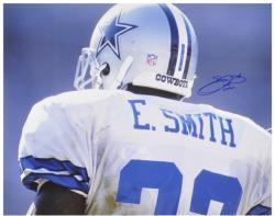 Emmitt Smith Dallas Cowboys Autographed 16'' x 20'' Back Shot Photograph - Mounted Memories
