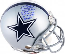 Emmitt Smith Dallas Cowboys Autographed Riddell Pro-Line Authentic Helmet with Multiple Inscriptions-#2-21 of a Limited Edition of 22