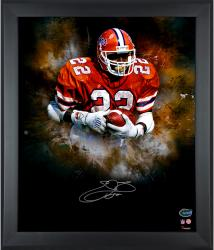 Emmitt Smith Florida Gators Framed Autographed 20'' x 24'' In Focus Photograph - Mounted Memories
