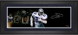Emmitt Smith Dallas Cowboys Framed Autographed 10'' x 30'' Filmstrip Photograph - Mounted Memories