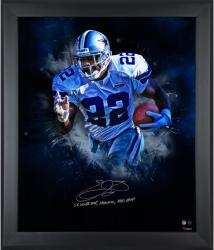 Emmitt Smith Dallas Cowboys Framed Autographed 20'' x 24'' In Focus Photograph with Multiple Inscriptions-Limited Edition #2-21 of #22 - Mounted Memories