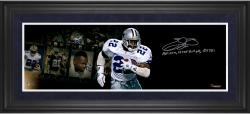 Emmitt Smith Dallas Cowboys Framed Autographed 10'' x 30'' Filmstrip Photograph with Multiple Inscriptions-Limited Edition #1 of #22 - Mounted Memories