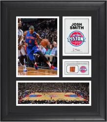 "Josh Smith Detroit Pistons Framed 15"" x 17"" Collage with Team-Used Ball"