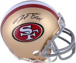 Justin Smith San Francisco 49ers Autographed Riddell Mini Helmet