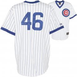 "Lee Smith Chicago Cubs Autographed White Jersey with ""478 Saves/ 84 CUBS"" Inscriptions"